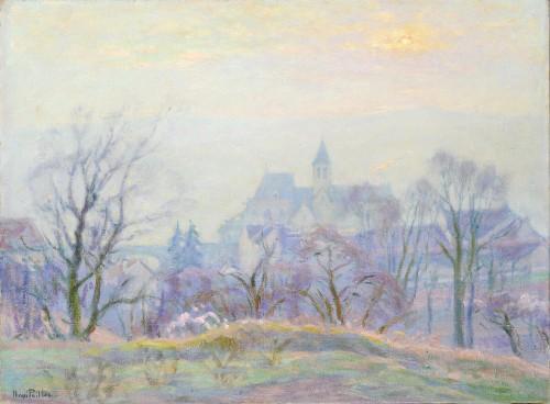 Henri Pailler (1876-1954) - Snow at Triel sur Seine Yvelines - Paintings & Drawings Style Art Déco
