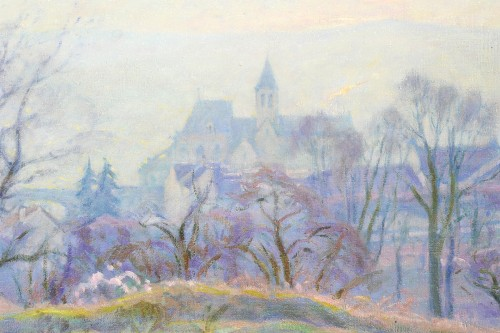 Paintings & Drawings  - Henri Pailler (1876-1954) - Snow at Triel sur Seine Yvelines