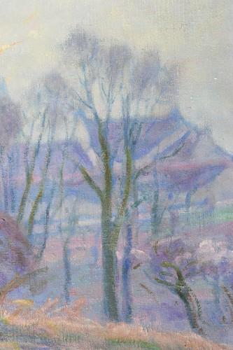 20th century - Henri Pailler (1876-1954) - Snow at Triel sur Seine Yvelines