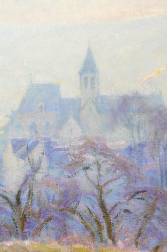 Henri Pailler (1876-1954) - Snow at Triel sur Seine Yvelines - Art Déco