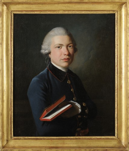 Portrait of a man with a book - Austrian school circa 1770