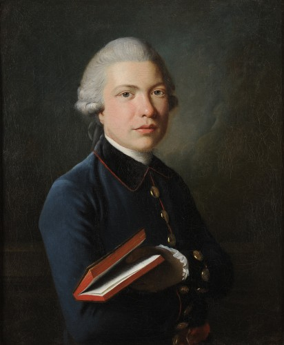 Portrait of a man with a book - Austrian school circa 1770 - Paintings & Drawings Style Louis XVI