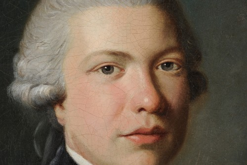 Paintings & Drawings  - Portrait of a man with a book - Austrian school circa 1770