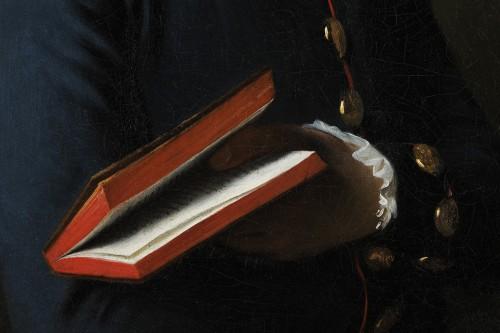 Portrait of a man with a book - Austrian school circa 1770 -