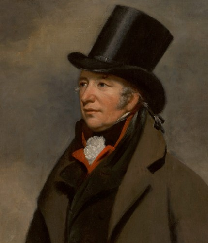 Portrait of Captain Samuel Wright - Attributed to Henry William Pickersgill, (1782-1875) - Paintings & Drawings Style Empire