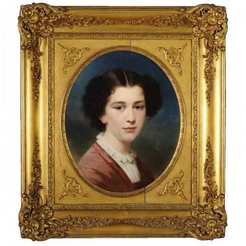 Henriquetta Girouard (1816-1883) - Young girl portrait