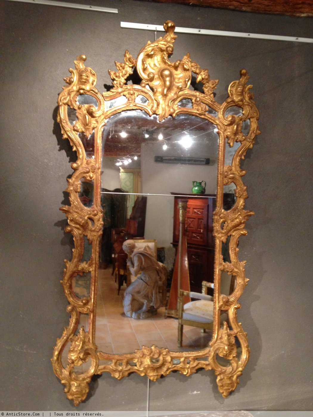 Miroir avec sa console provence xviiie si cle for On traverse un miroir