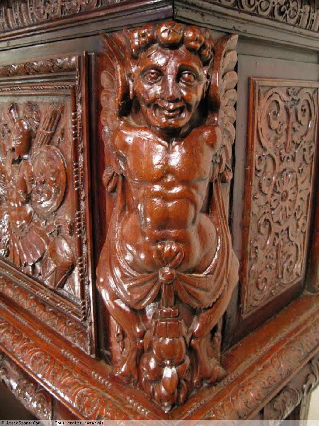 Dressoir aux lions, époque Henri II vers 1570 - XVIe siècle - N.34532