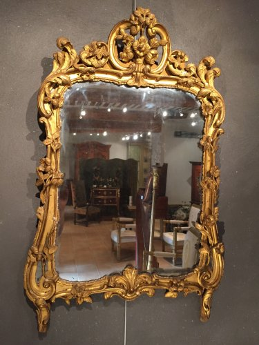 French fine provencal mirror 18th  (provence) - Mirrors, Trumeau Style Louis XV