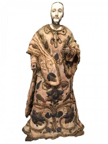 St francis xavier, spanish colonial ivory , 18th.c