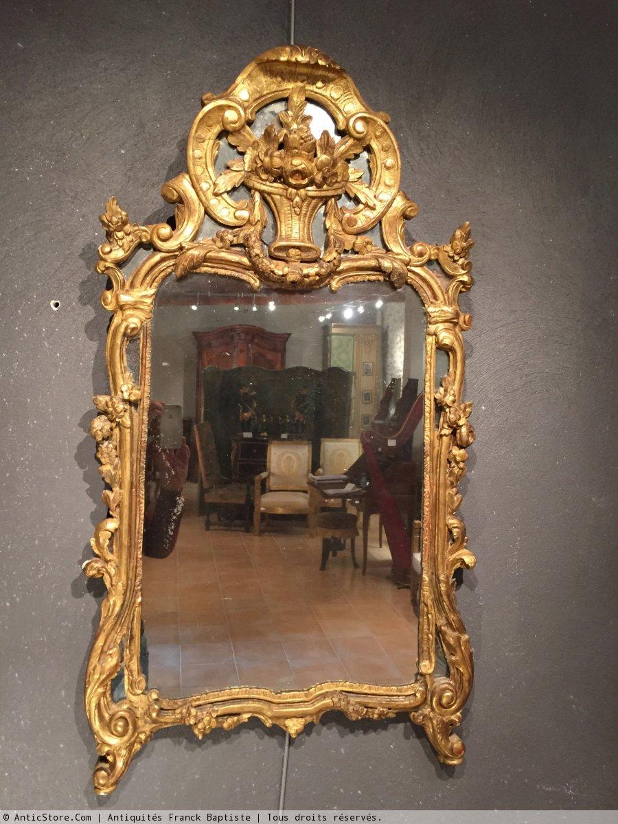 Miroir proven al fin du xviiie si cle for Miroir xviii