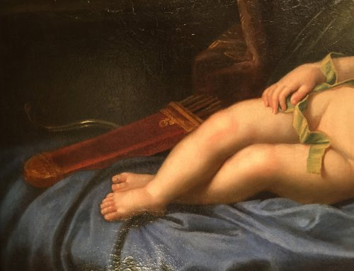 Louis alexandre de bourbon asleep in the guise of cupid, atelier pierre mig - Louis XIV