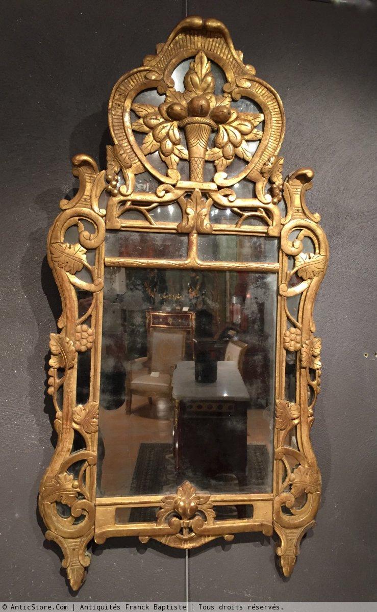 Miroir de beaucaire provence poque louis xv xviiie for Miroir louis xv