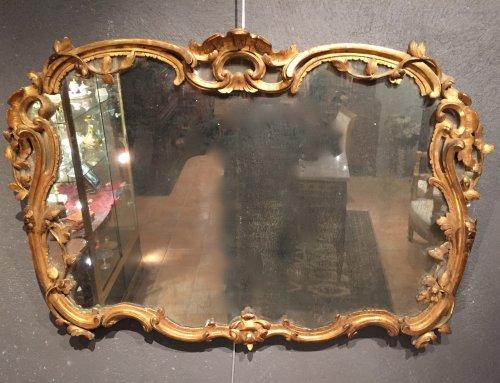 French fine 18 th.c mirror, provence louis xv period