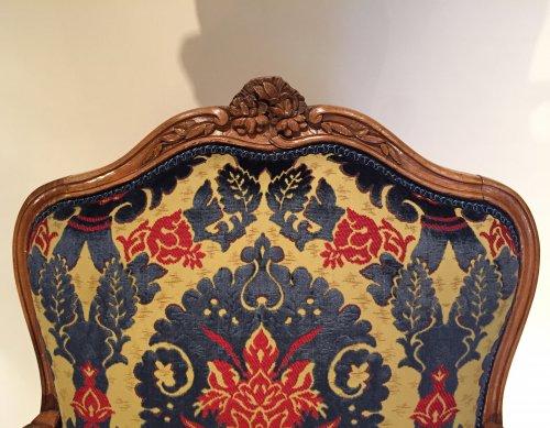 Three large french fine chairs, nogaret ,lyon circa 1750 -
