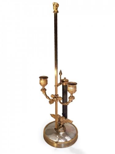 French fine desk chandelier, ormolu and pearl, paris circa 1830