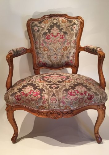 Pair of large armchairs stamped lefèvre, paris louis xv périod - Seating Style Louis XV