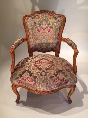 Seating  - Pair of large armchairs stamped lefèvre, paris louis xv périod