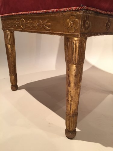 19th century - Pair of gilded wood chairs Empire by Marcion or Bellangé, Paris 1805