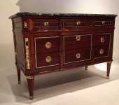 French fine commode stamped c.mauter , paris louis xvi period