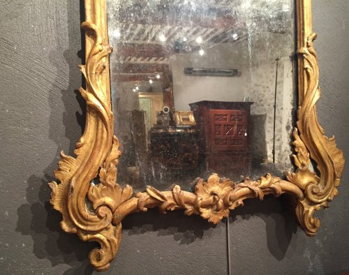 Mirrors, Trumeau  - Italian fine mirror , between two windows , circa 1750