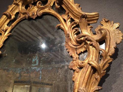 Italian fine mirror , between two windows , circa 1750 -
