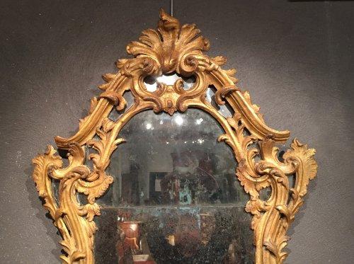 Italian fine mirror , between two windows , circa 1750 - Louis XV