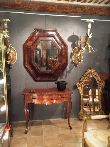 Important miroir en placage d 39 olivier xviie si cle for Miroir louis xiii
