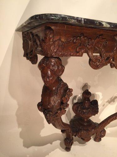 "Rare "" women busts"" console , Paris Régence period  - French Regence"