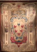 Italian fine Tapestry with arms of the Medicis , Florence circa 1630
