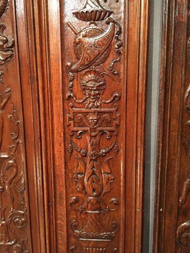 Set of 19th.c twelve renaissance panels  oak  - Napoléon III