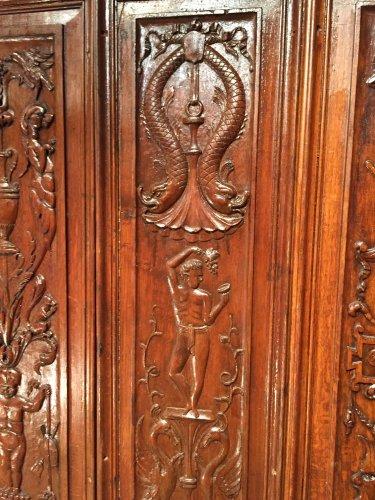 Napoléon III - Set of 19th.c twelve renaissance panels  oak