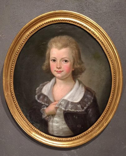 Child portrait of French revolutionary period around 1790