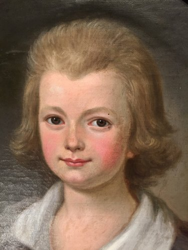 Child portrait of French revolutionary period around 1790 - Paintings & Drawings Style Louis XVI