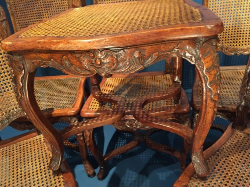 Seating  - French Fine Suite of Six Chairs, Paris Régence Period BY Louis Cresson.