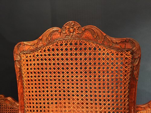 French Fine Suite of Six Chairs, Paris Régence Period BY Louis Cresson. -