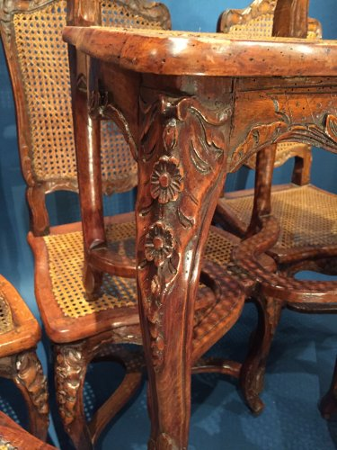 18th century - French Fine Suite of Six Chairs, Paris Régence Period BY Louis Cresson.