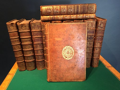 Rare 18th c. Series of Twelve Volumes with The Royal Arms of France