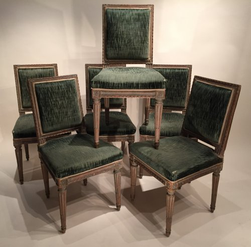 Rare 18th.c French Chairs, David-Weill Collection