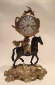 """Rare Louis XV """"horse"""" Clock, Paris Circa 1760-1770"""