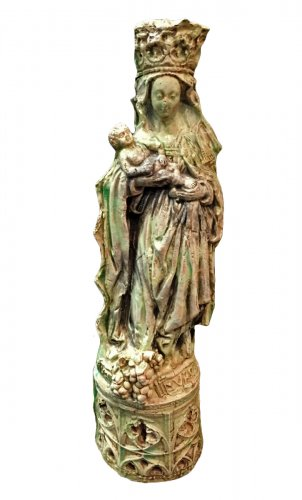 French 19th .c Terracota Virgen