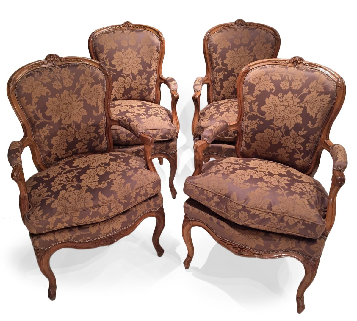 Set Of Four French Fine Chairs, Louis XV Period
