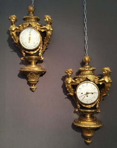 Pair of Cartel and Barometer, Paris Circa 1775