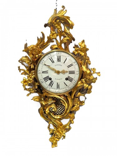 French fine ormolu cartel by Jean-Joseph de Saint-Germain, Paris circa 1765