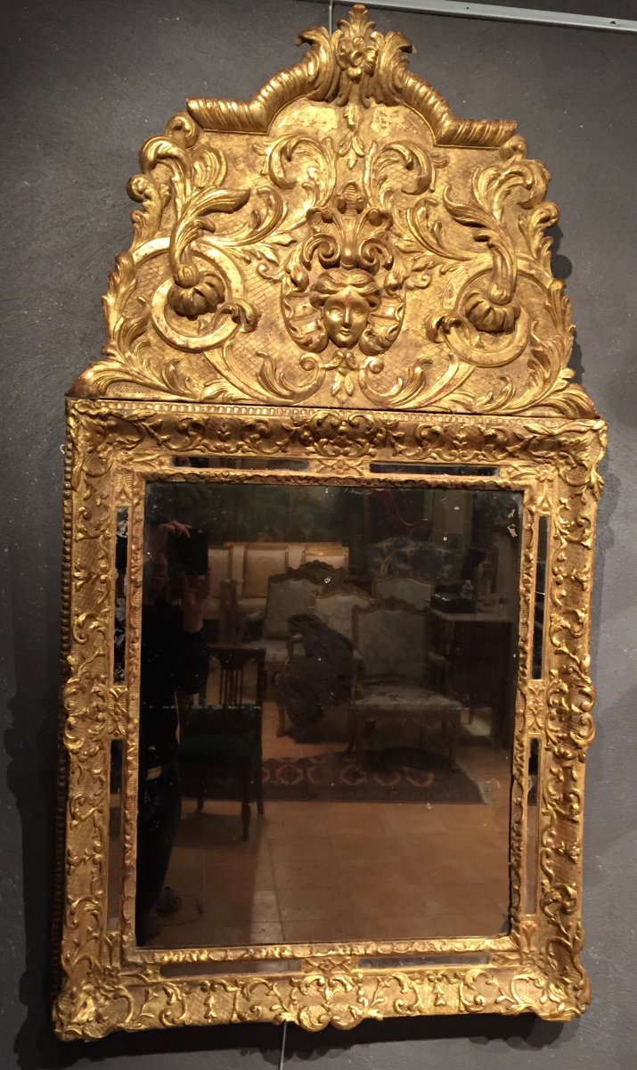Miroir en bois dor la victoire france poque louis xiv for Miroir france
