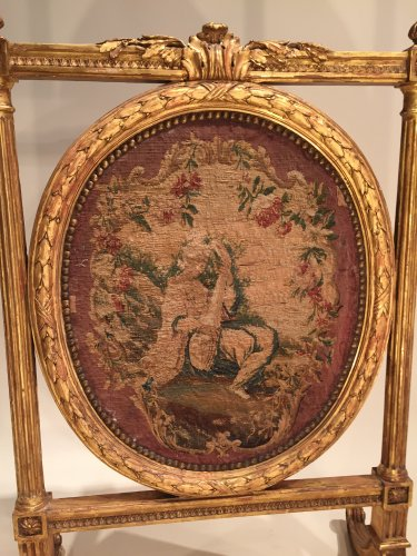 French Fine Fireplace Screen , Paris Circa 1780 -