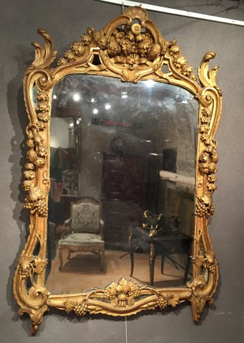 French Fine Mirror, Provence Louis XV Period Circa 1770