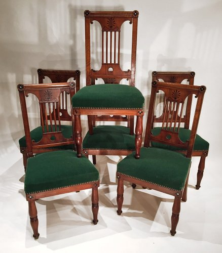 French Fine Consulat Set of Chairs, Paris by Jacob Desmalter