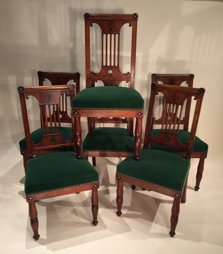 French Fine Consulat Set of Chairs, Paris by Jacob Desmalter - Empire
