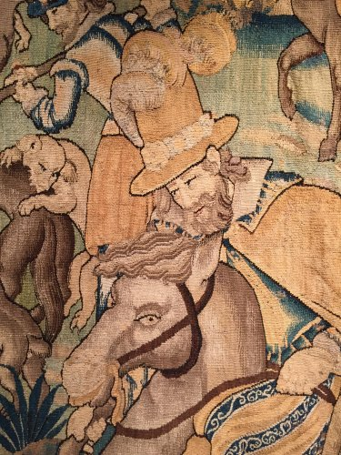 Tapestry The French King Henri IV Hunting the Wolf, circa 1600 - Tapestry & Carpet Style Renaissance